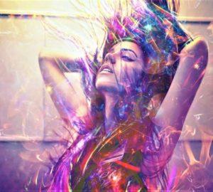 purple aura person